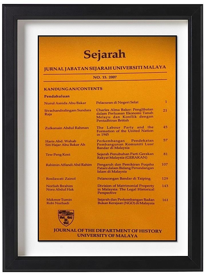 Sejarah Dan Perkembangan Badan Bukan Kerajaan Ngo Di Malaysia Sejarah Journal Of The Department Of History