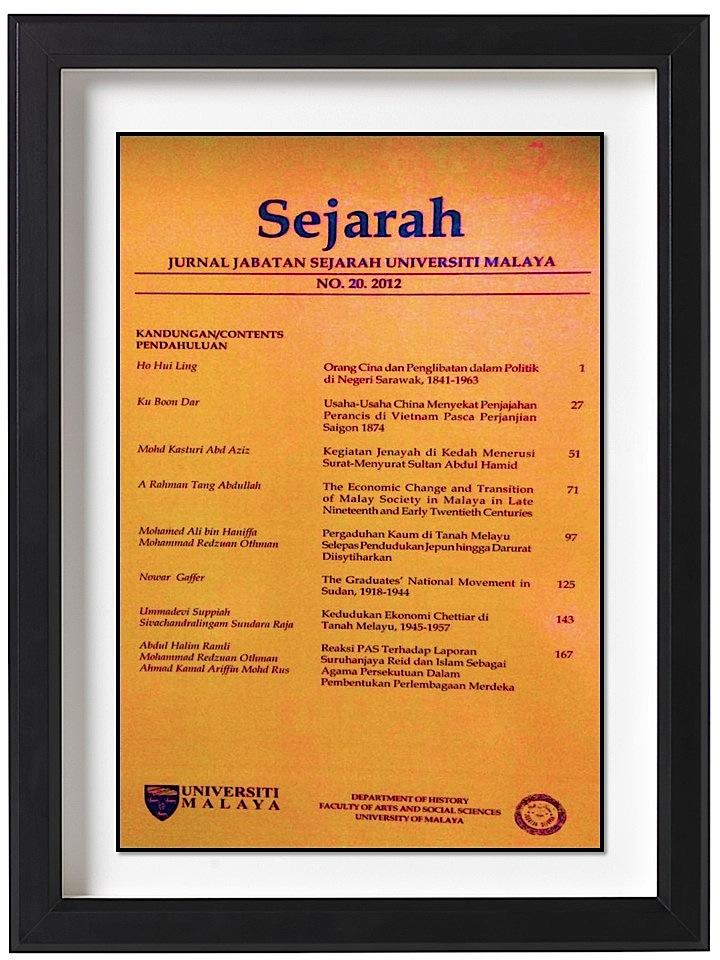 Pergaduhan Kaum Di Tanah Melayu Selepas Pendudukan Jepun Hingga Darurat Diisytiharkan Sejarah Journal Of The Department Of History