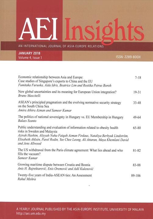 View Vol. 4 No. 1 (2018): AEI INSIGHTS