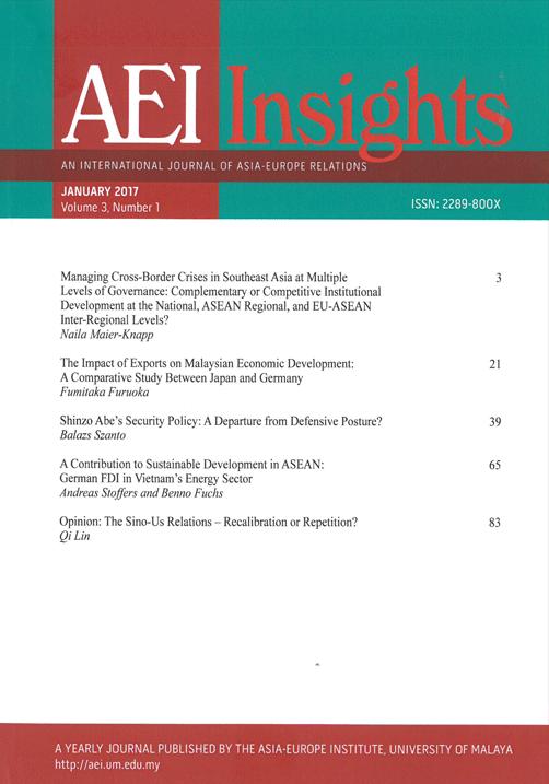 View Vol. 3 No. 1 (2017): AEI INSIGHTS