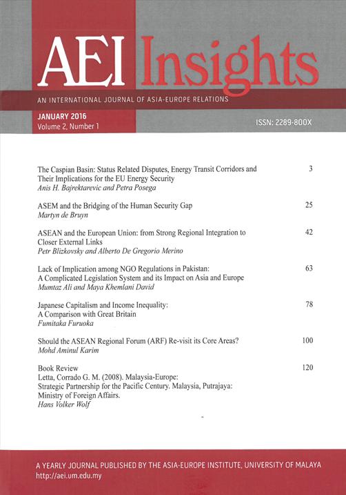 View Vol. 2 No. 1 (2016): AEI INSIGHTS
