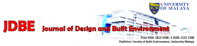 Journal of Design and Built Environment