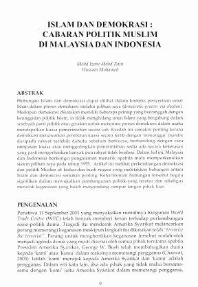 Islam Dan Demokrasi Cabaran Politik Muslim Di Indonesia Jati Journal Of Southeast Asian Studies
