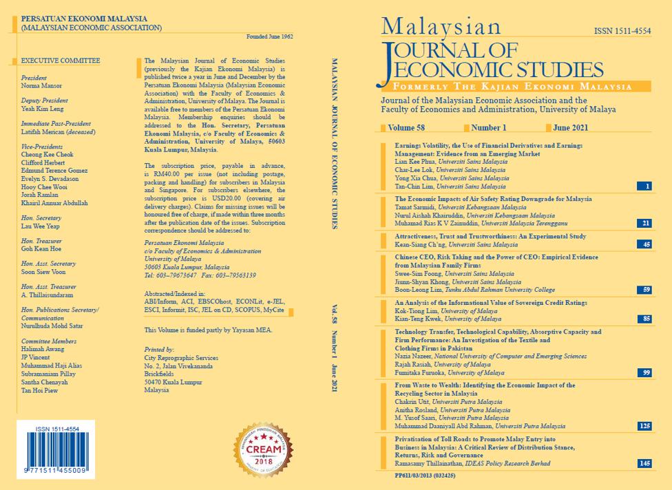 View Vol. 58 No. 1: June 2021