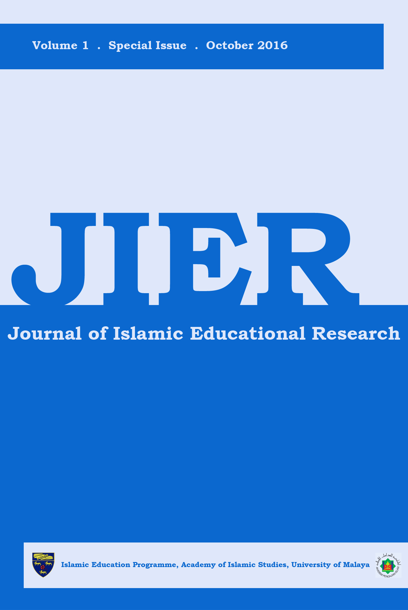 Journal of Islamic Educational Research (JIER)